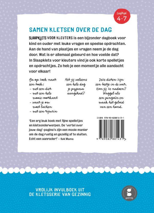Slaapklets kleutersDeel2 backcover
