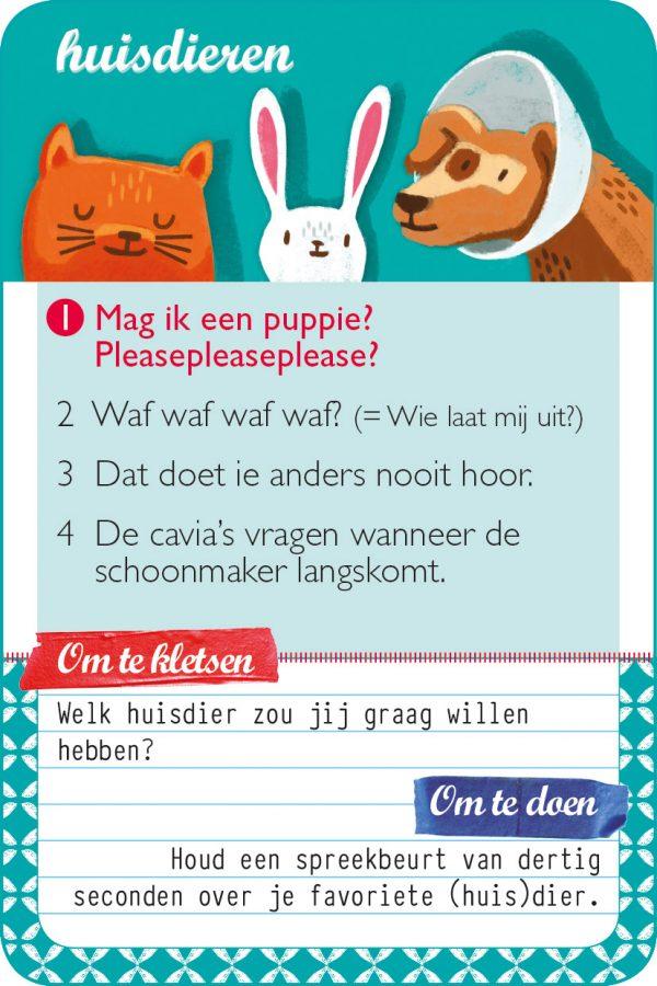 familieklets  huisdieren kaart 1 hr