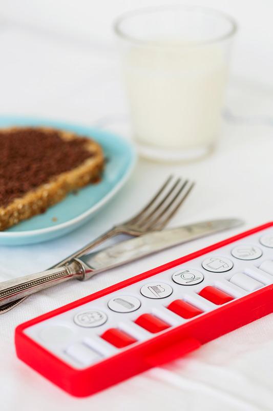 gezinnig checkpad ontbijt rood